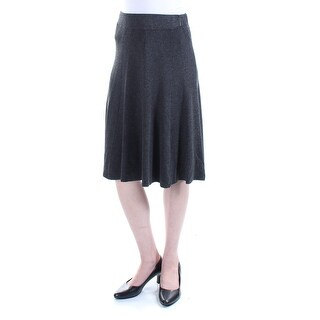 ALFANI Womens Gray Below The Knee Fit + Flare Wear To Work Skirt  Size: XS