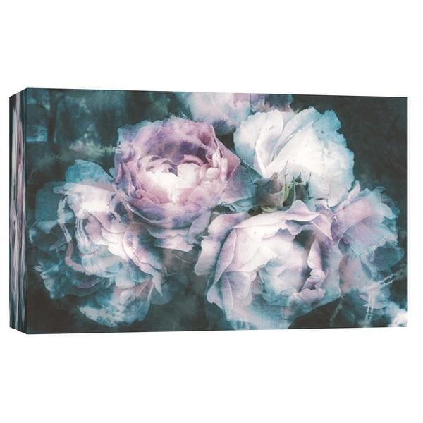 "PTM Images 9-103646 PTM Canvas Collection 8"" x 10"" - ""Batik Flowers"" Giclee Roses Art Print on Canvas"