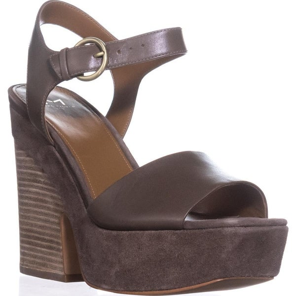 Marc Fisher Perla Platform Sandals, Medium Green