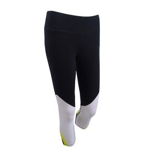 Link to DKNY Women's Colorblocked Cropped Leggings XS, Black/White - XS Similar Items in Athletic Clothing