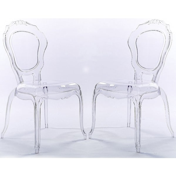 Shop 2xhome Set of 2 Stacking Side Dining Chairs Molded Modern ...