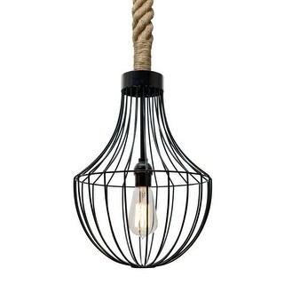 Besa Lighting 1JT-SULTANA-F Sultana Single Light Rope-Hung Pendant