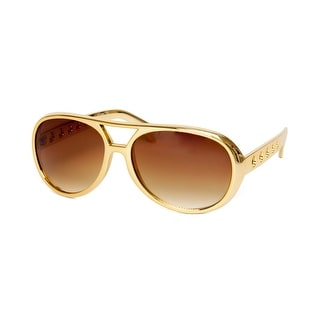 Gravity Shades Rock and Roll King Sunglasses - Gold - One size