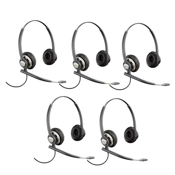Plantronics EncorePro HW720 Noise-Canceling Stereo Corded Headset 78714-101 (5 Pack)