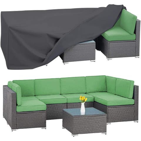 """Patio Furniture Set Cover Fits for 6-8 Seater Garden Couch - 126"""" x 64"""" x 29"""""""
