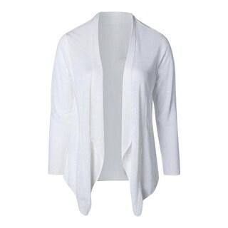 Eileen Fisher Womens Linen Open Front Cardigan Sweater