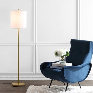"Link to Safavieh Lighting 61-inch Octavius LED Floor Lamp - 13"" x 13"" x 61"" Similar Items in Floor Lamps"