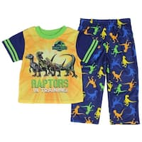 Jurassic World Little Boys' Toddler Raptors In Training 2-Piece Pajama Set