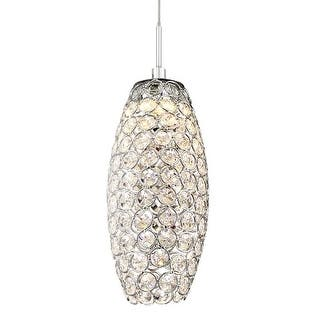 """Platinum PCIN1504 Infinity Single Light 4"""" Wide Low Voltage LED Pendant with Crystal Accents