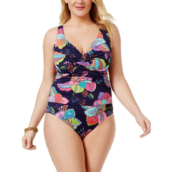 a7aa11728f9 Shop Anne Cole Womens Plus Size Cactus Printed Underwire One Piece Swimsuit  22W Multi - Free Shipping Today - Overstock - 20896625