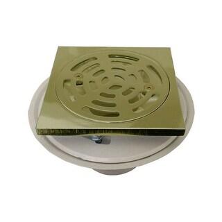 "Proflo PF821PBQ 2"" PVC Adjustable Shower Drain with Square Brass Strainer"
