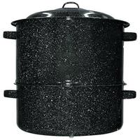 GraniteWare 6317-1 Covered Clam Steamer, Black, 19 Quarts