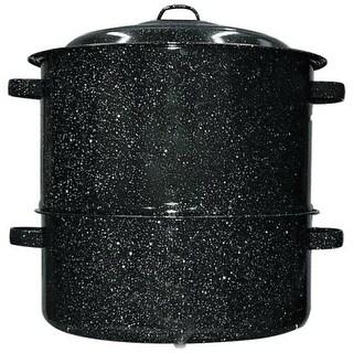 GraniteWare 6317-1 Covered Clam Steamer, Black, 19 Quarts