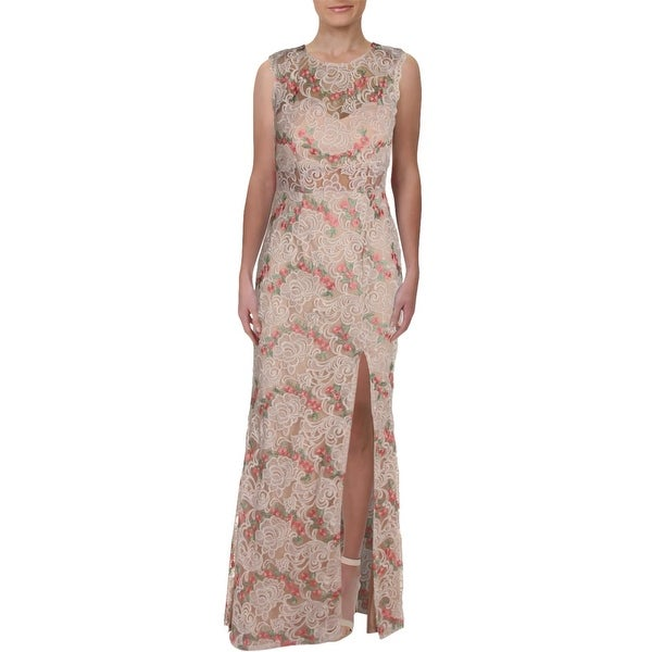 c023747136ee Shop City Studio Womens Juniors Formal Dress Floral Embroidery Lace ...
