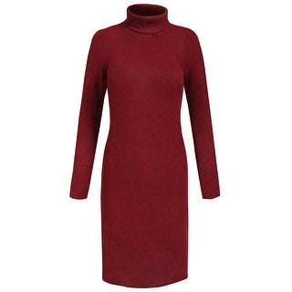 NE PEOPLE Womens Casaul Turtleneck Long Sleeve Sweater Dress [NEWDR98]