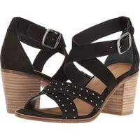 Lucky Brand Womens Kesey Leather Open Toe Casual Ankle Strap Sandals