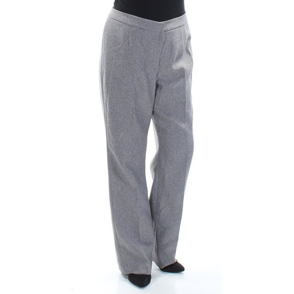 LE SUIT Womens Gray Zippered Straight leg Wear To Work Pants Size 12. Opens flyout.