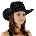 Glitter Sequin Trim Cowboy Hat for Ladies - Thumbnail 33