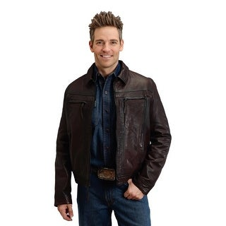 Stetson Western Jacket Mens Soft Leather Brown 11-097-0539-6611 BR