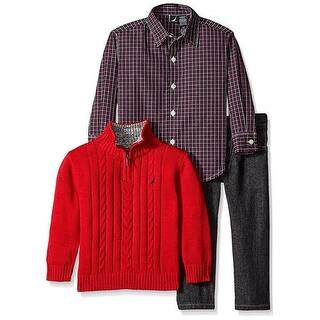 Nautica Boys 2T-4T 3-Piece Sweater Jean Set|https://ak1.ostkcdn.com/images/products/is/images/direct/51263d66bc99d92fb7366898a739ba1a727b2c4d/Nautica-Boys-2T-4T-3-Piece-Sweater-Jean-Set.jpg?impolicy=medium