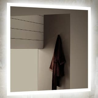 """Miseno MM4040LED 40"""" W x 40"""" H Square Frameless Wall Mounted Mirror with LED Lighting"""