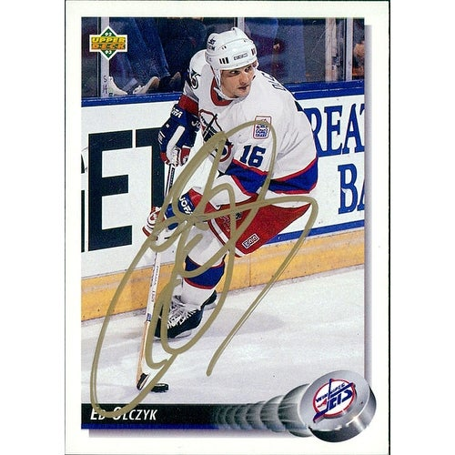 various colors 8c547 94345 Signed Olczyk Ed Winnipeg Jets 1992 Upper Deck Hockey Card autographed