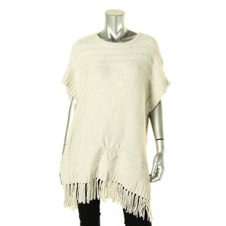 VELVET BY GRAHAM & SPENCER Womens Pullover Sweater Fringe Cap Sleeves