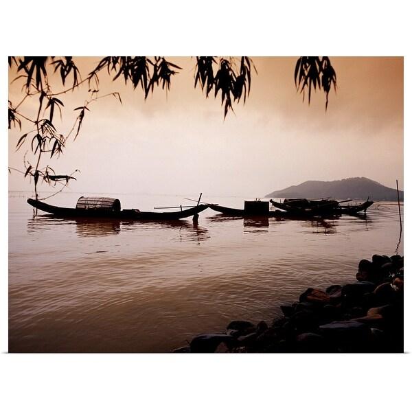"""Boats in Vietnam"" Poster Print"