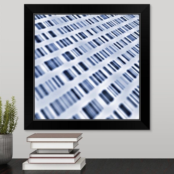 """DNA sequences"" Black Framed Print"