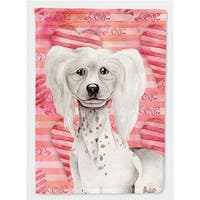 Carolines Treasures CK1394GF Chinese Crested Love Flag - Garden Size