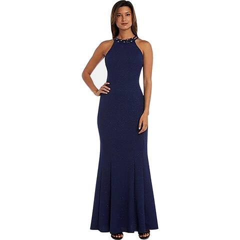 NW Nightway Womens Evening Dress Glitter Embellished