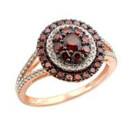 Beautiful Real Cognac Diamond Butterfly Ring, 925 Sterling Silver