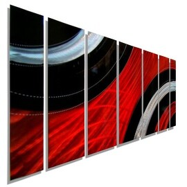 Statements2000 Red / Black Modern Metal Wall Art Painting by Jon Allen - Critical Mass