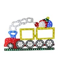"12.25"" Lighted LED Multi-Color Train Christmas Window Silhouette Decoration - multi"
