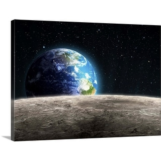 """""""Earthrise from the Moon, artwork"""" Canvas Wall Art"""