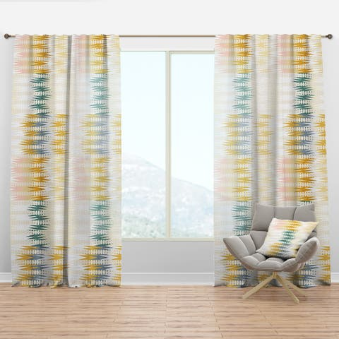 Designart 'Retro Abstract Design VIII' Mid-Century Modern Curtain Panel