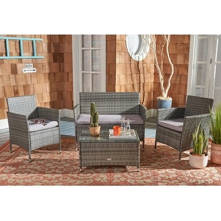 Link to Safavieh Outdoor Living Bandele 4-piece Patio Set Similar Items in Outdoor Sofas