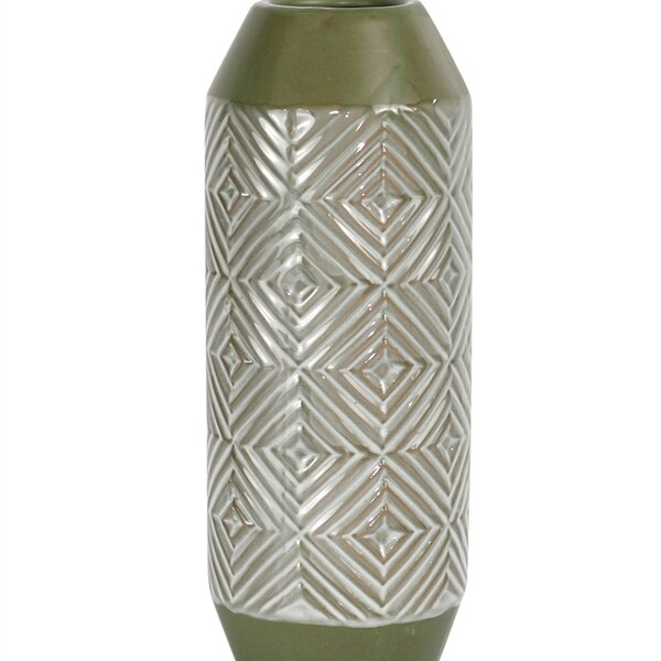 Manifestly Unique Decorative Ceramic Vase, Green