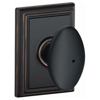 Schlage F40-SIE-ADD Siena Privacy Door Knob Set with Decorative Addison Trim