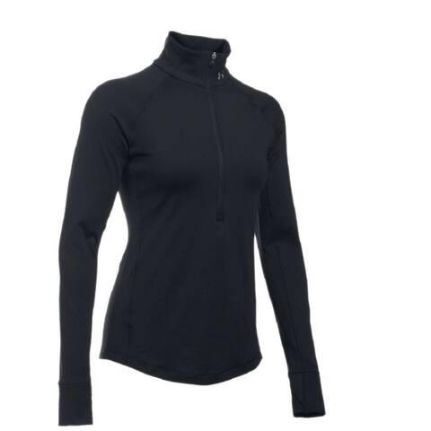 Under Armour Women's ColdGear Half Zip Top (Black, L)