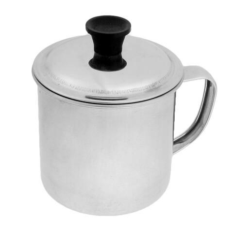 Unique Bargains 7cm Dia Mouth D Shape Handle Stainless Steel Cup Water Mug