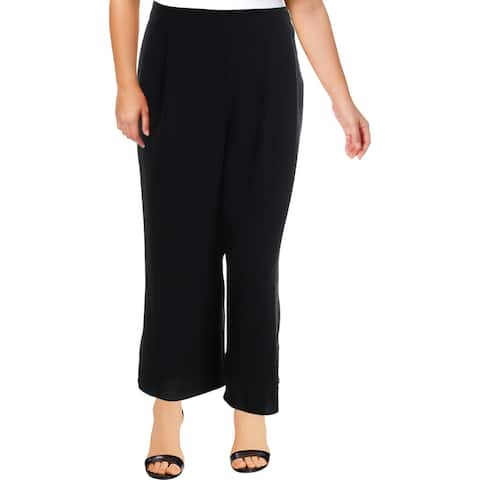 Vince Camuto Womens Casual Pants Button Down Work Wear - Rich Black