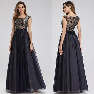 Ever-Pretty Elegant Lace Cap Sleeve Evening Mother of the Bride Dresses 00976