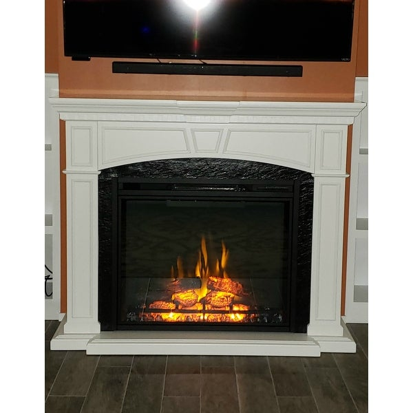 Shop Napoleon The Taylor White Mantel Package With Electric