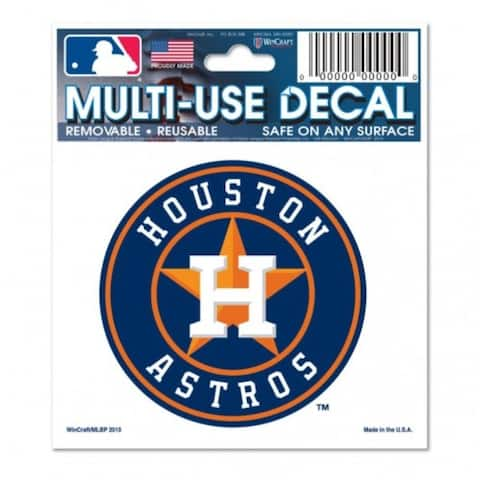 Houston Astros Decal 3x4 Multi Use - 3x4