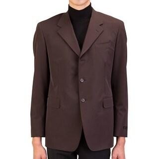 Prada Men's Polyester Three-Button Sportscoat Jacket Dark Brown - 42