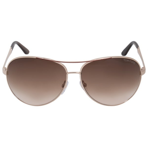 91e6151a54e Shop Tom Ford Charles Aviator Sunglasses FT0035 772 62 - Free ...