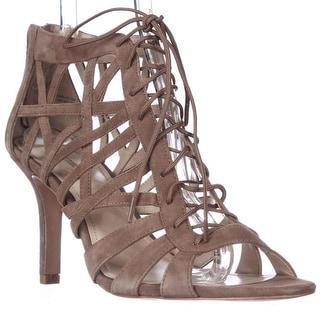 Pour La Victoire Charlize Cut-Out Lace Up Dress Sandals, Cigar