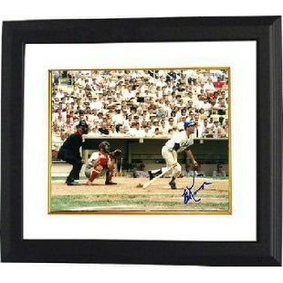 Ed Kranepool signed New York Mets 8x10 Photo Custom Framed-Horizontal (batting- 1969 Mets)