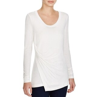 Elie Tahari Womens Brittany Pullover Top Knit Asymmetric - s